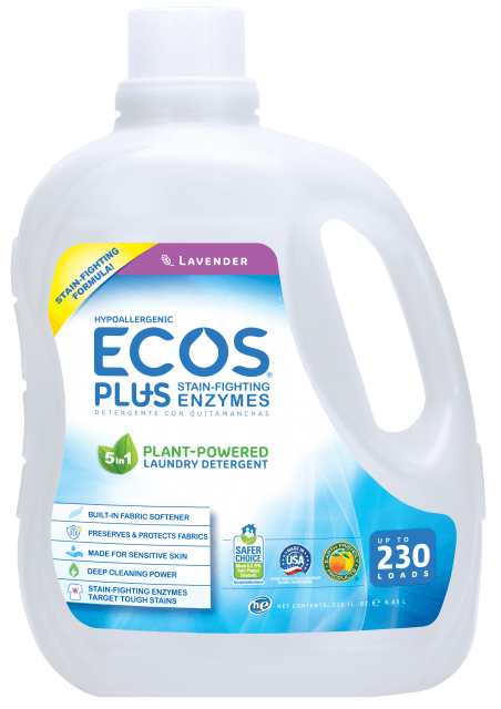 Hypoallergenic Laundry Detergent PLUS with Enzymes - Lavender - Image