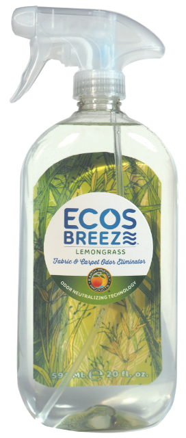 ECOSBreeze® Fabric & Carpet Odor Eliminator - Lemongrass - Image