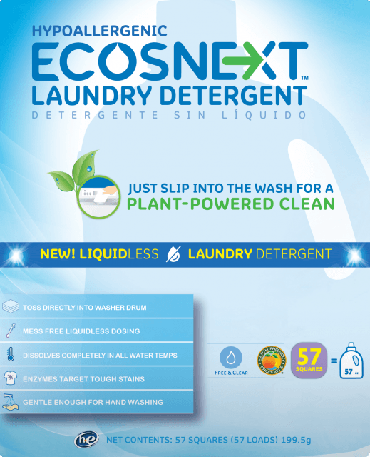 ECOSNEXT™ Liquidless Laundry Detergent - Free & Clear - Image