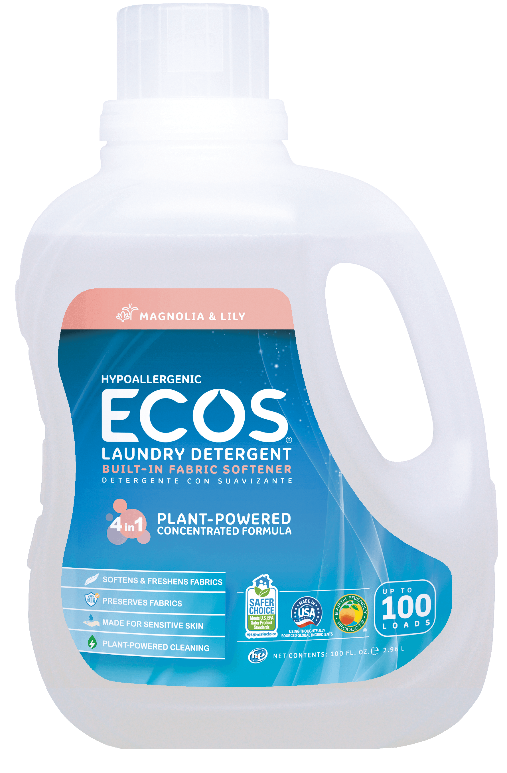 All Natural Detergent Hypoallergenic Magnolia Lily Ecos